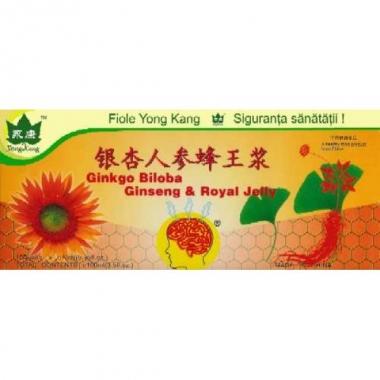 Ginkgo Biloba, Ginseng & Royal Jelly 10 fiole x 10 ml