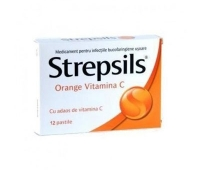 Strepsils Orange Vitamina C X 12 pastile