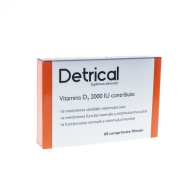 Detrical Vitamina D3 , 60 comprimate, Zdrovit