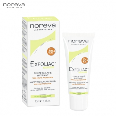 Noreva Exfoliac Fluid Matifiant SPF50, 40ml