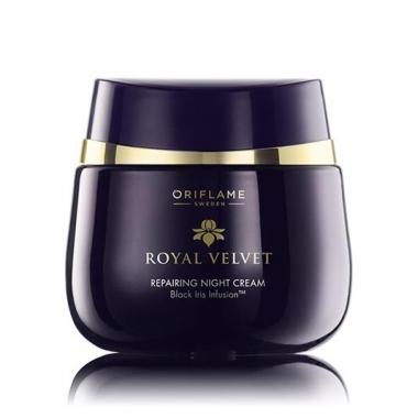 Cremă de noapte cu efect reparator Royal Velvet 40+