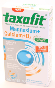 Taxofit Magneziu Calciu D3