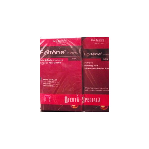 Tratament barbati impotriva caderii parului 100ml + sampon 200ml gratis Foltene Pharma