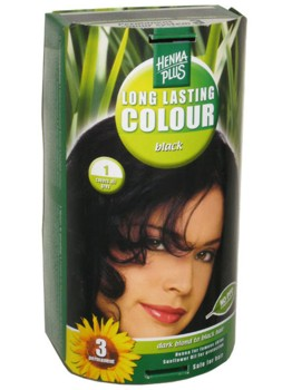 Henna Plus Long Lasting Colour- Vopsea de Par Nuanta 1