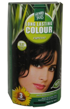 Henna Plus Long Lasting Colour- Vopsea de Par Nuanta 3.37