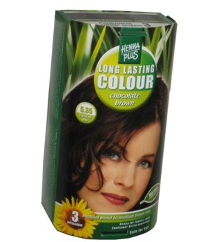 Henna Plus Long Lasting Colour- Vopsea de Par Nuanta 5.35
