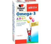 Doppelherz Omega 3+Vitamina A+D+E+C pt copii