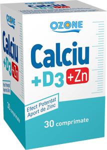 Calciu cu Vitamina D3 si Zinc Ozone