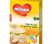 Milupa Cereale cu orez, vanilie fara zahar x 200 gr