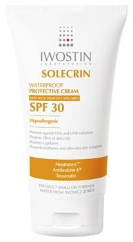 Iwostin Solecrin crema cu protectie solara pentru ten cuperozic SPF 30
