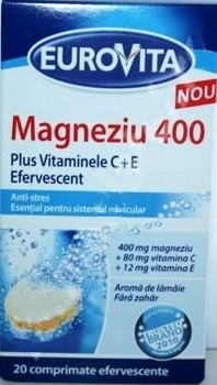 Eurovita Magneziu 400 Plus Vitaminele C+E
