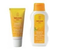 Weleda Baby crema faciala hidratanta galbenele+ulei
