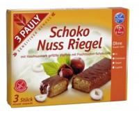 Batoane de ciocoata cu crema de alune, fara gluten