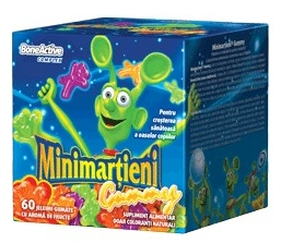 Minimartieni Gummy Bone Active x 60 jeleuri, Walmark 1+1 gratis