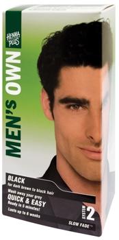 Henna Plus Men's Own Black vopsea pentru barbati
