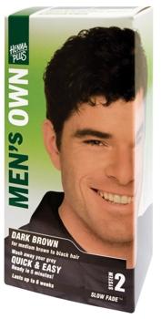 Henna Plus Mens Own Dark Brown vopsea pentru barbati