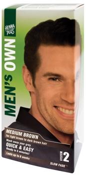 Henna Plus Mens Own Medium Brown vopsea pentru barbati