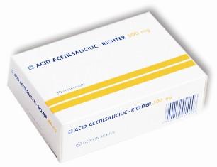 Acid Acetilsalicilic 500mg tamponat Richter