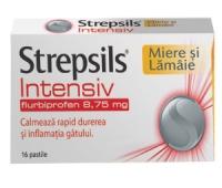 Strepsils Intensiv Miere si Lamaie X 16 comprimate