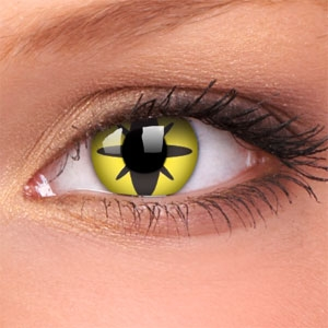 Lentile Crazy Lens Yellow Flower