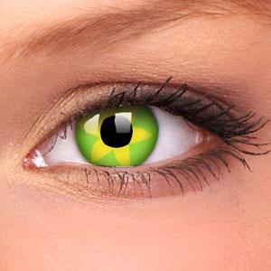 Lentile Crazy Lens Green Flower