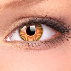 Lentile Crazy Lens Red Spiral