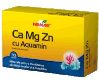 Calciu Magneziu Zinc Aquamin Walmark 30 tablete