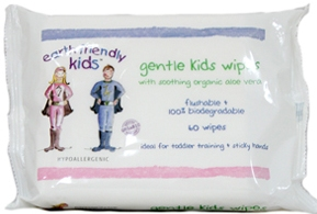 Servetele eco umede pentru copii, 60 buc, 5 ani +, natural