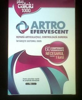 Artro Efervescent Plus Calciu 1000 3 Tuburi