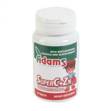 Super C+Zn, 30 tablete, Adams Vision