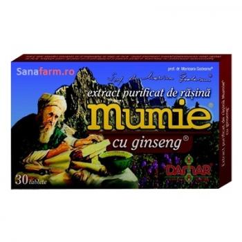 Extract Purificat de Rasina Mumie cu Ginseng x 30 tb