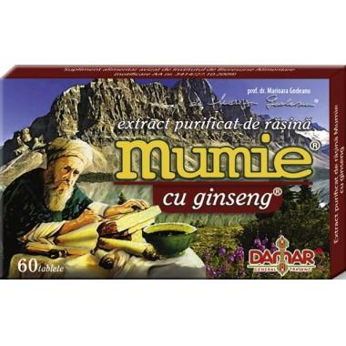 Extract Purificat de Rasina Mumie cu Ginseng x 60 tb