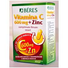 Vitamina C 600mg +Zn x30 cpr