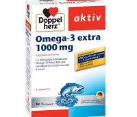 DoppelHerz Omega-3 Extra 1000mg - ulei de somon + vit E x 60 capsule
