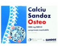 Calciu Osteo 1000mg/880 U.I. x 30 cpr masticabile