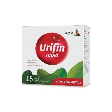 Urifin Rapid + Ceai Urifin, 15+20 plicuri, Alevia