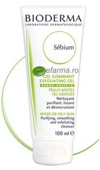 Bioderma Sebium gel gomant exfoliant 100 ml