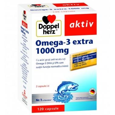Doppelherz Omega 3 extra - Ulei de somon 120 capsule