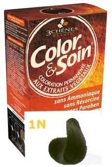 Color & Soin Vopsea Par Naturala 1N Negru Abanos