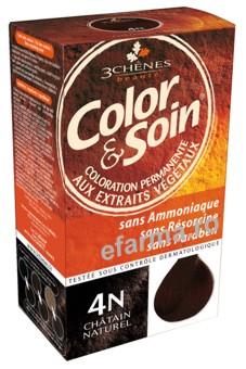 Color & Soin Vopsea Par Naturala 4N Saten Natural