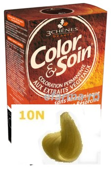 Color & Soin Vopsea Par Naturala 10N Blond Platinat