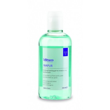 Ivapur gel spumant purificator piele grasa flacon 250 ml