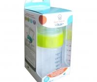 Biberon cu sistem de ventilatie si tetina de silicon x 140 ml,Sun Wave Pharma