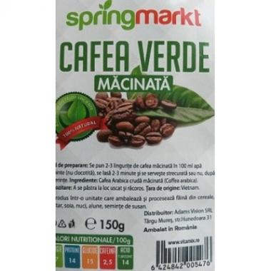 Cafea Verde Macinata x150 gr , Adams Vision