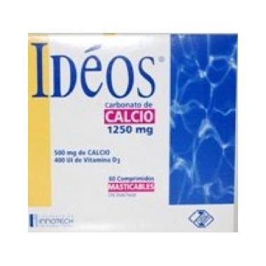 Ideos 1250 mg/400 UI x 30 cpr mastic.