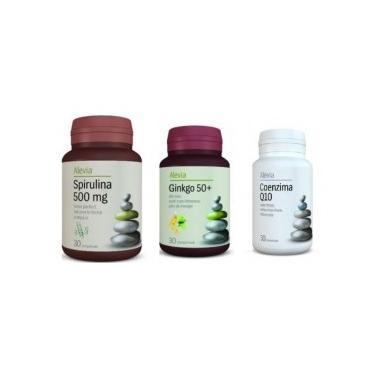 Spirulina +Ginkgo+Coenzima Q10, ALEVIA