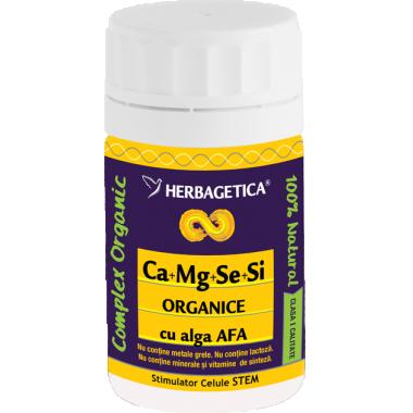 Ca+Mg+Se+Si organice +alga Afa 60 cps
