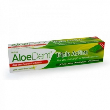 Pasta de dinti Triple action aloe+coenzima Q10 100ml