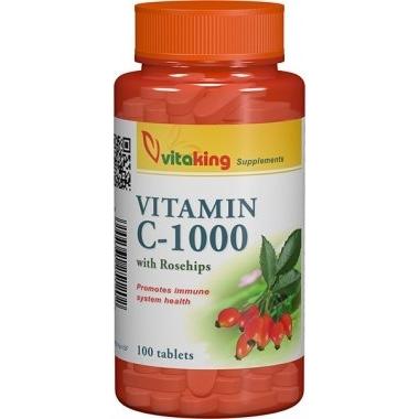 Vitamina C 1000mg macese 100cpr