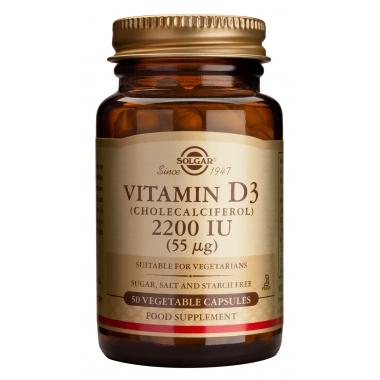Vitamin D3 2200IU veg. caps 50s